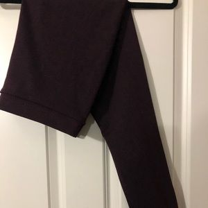 Pants - Burgandy Stirrup Pants- Large